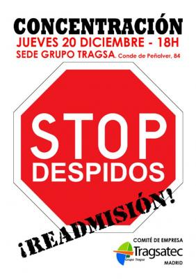 BASTA DE DESPIDOS EN TRAGSATEC
